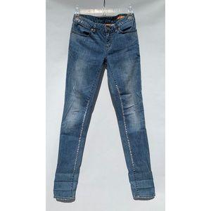 Tory Burch Silver Painted Jean Leggings 24